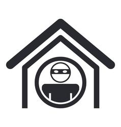 Home thief icon vector