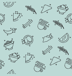Indian food concept pattern vector