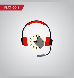 Isolated earphone flat icon headphone vector