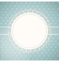 lace doily background and blue vector image vector image