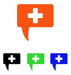 Medical answer flat icon vector