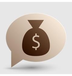 Money bag sign brown gradient icon vector