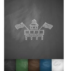 Parliament building miami icon hand drawn vector