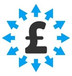 Pound Distribution Flat Icon Symbol vector image vector image