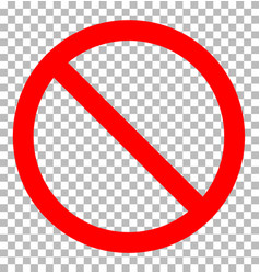 prohibition sign transparent prohibition sign vector image vector image