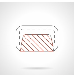 Road closed barrier flat line icon vector