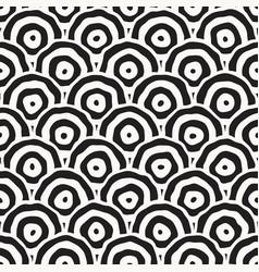 Rough line hand drawn circles seamless vector
