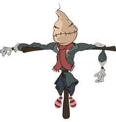 Scarecrow cartoon vector