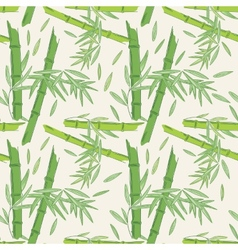 Seamless bamboo pattern vector image