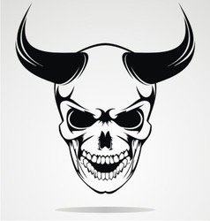 Skull of devils vector