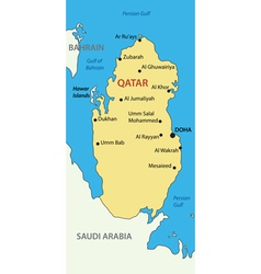State of qatar - map vector