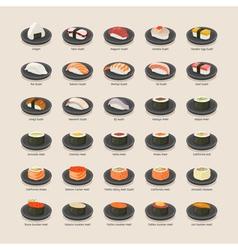 Sushi set eps10 format vector