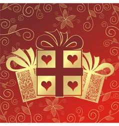 Romantic present vector image