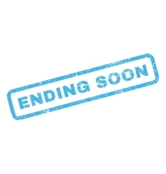 Ending soon rubber stamp vector