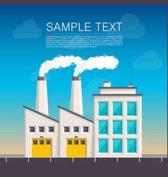 Industrial on the roadside cover vector