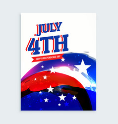 4th of july independence day flyer vector