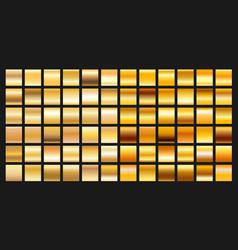 Digital design golden gradient icons vector