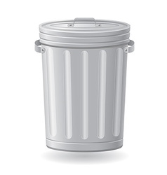 Trash can 01 vector