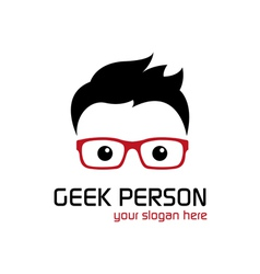 Geek person vector