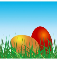 Colored eggs vector