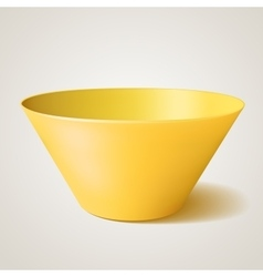 Empty bowl yellow with shadow vector