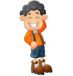 Little boy laughing vector