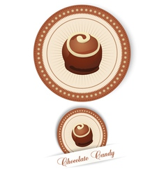 Label with the chocolates vector