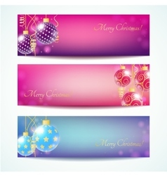 Vintage christmas card banner vector