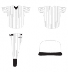 Base ball uniform vector