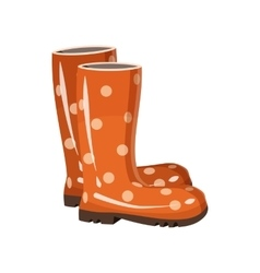 Stylish rubber boots icon cartoon style vector