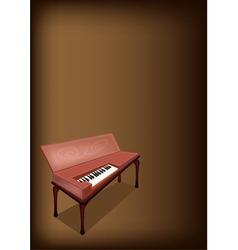 A Retro Clavichord on Dark Brown Background vector image vector image