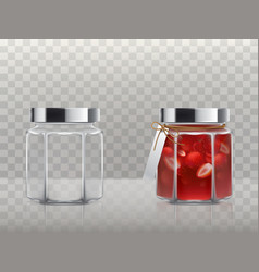 a set of of glass figured vector image