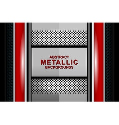 abstract metallic background design vector image