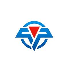 abstract technology emblem sign logo vector image