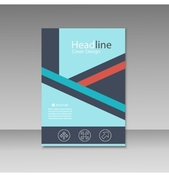 Abstract triangle line brochure cover design A4 vector image vector image