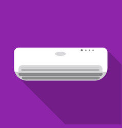 Air conditioner icon in flat style isolated on vector