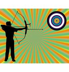 Archer shoots at a target vector