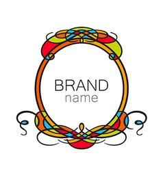 brand name frame logo vector image - Name Frame