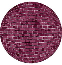 Burgundy brick ball vector