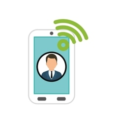 Businessman executive profile vector