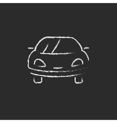 Car icon drawn in chalk vector image vector image