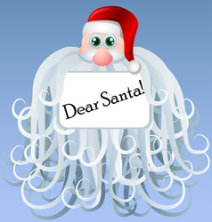 Cartoon Santa with big beard vector image vector image