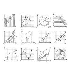 cartoon sketch business graphic charts vector image vector image