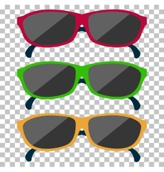 Classic Glasses Icon Sunglasses vector image vector image