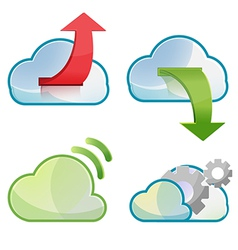 Cloud Icon Symbol Design Set vector image vector image