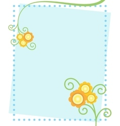 Cute Flowers Postcard vector image