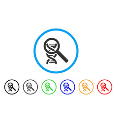 dna analysis rounded icon vector image