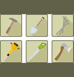 Flat tools icon vector