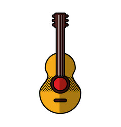 guitar acoustic isolated icon vector image vector image