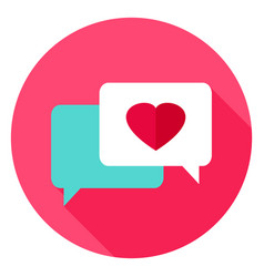 Love messages circle icon vector